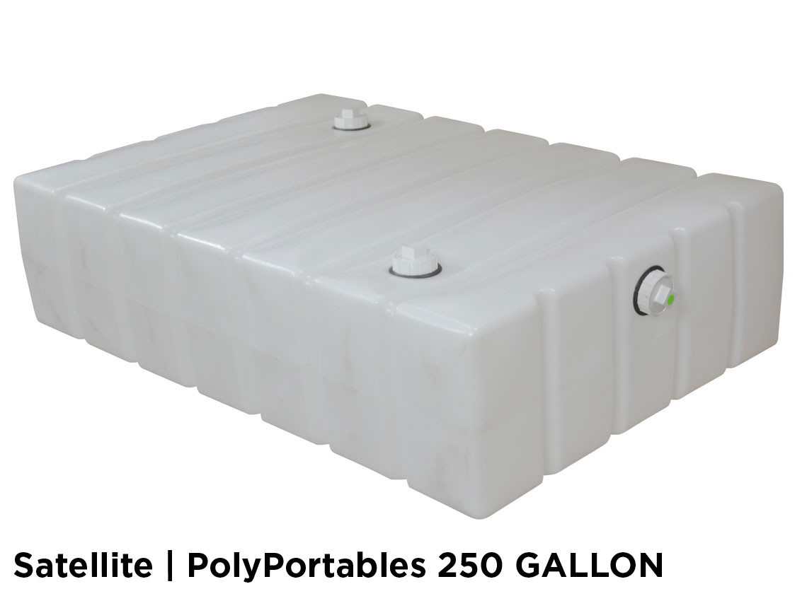 250 and 300 Gallon Holding Tank Systems for Portable