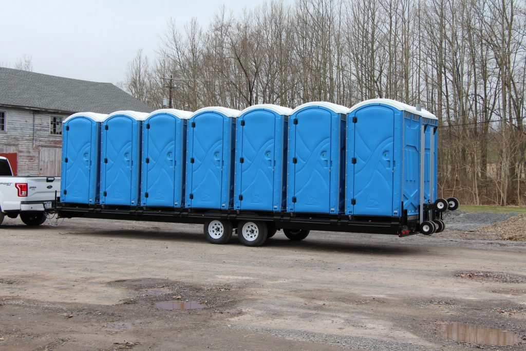 Portable Toilets on Truck