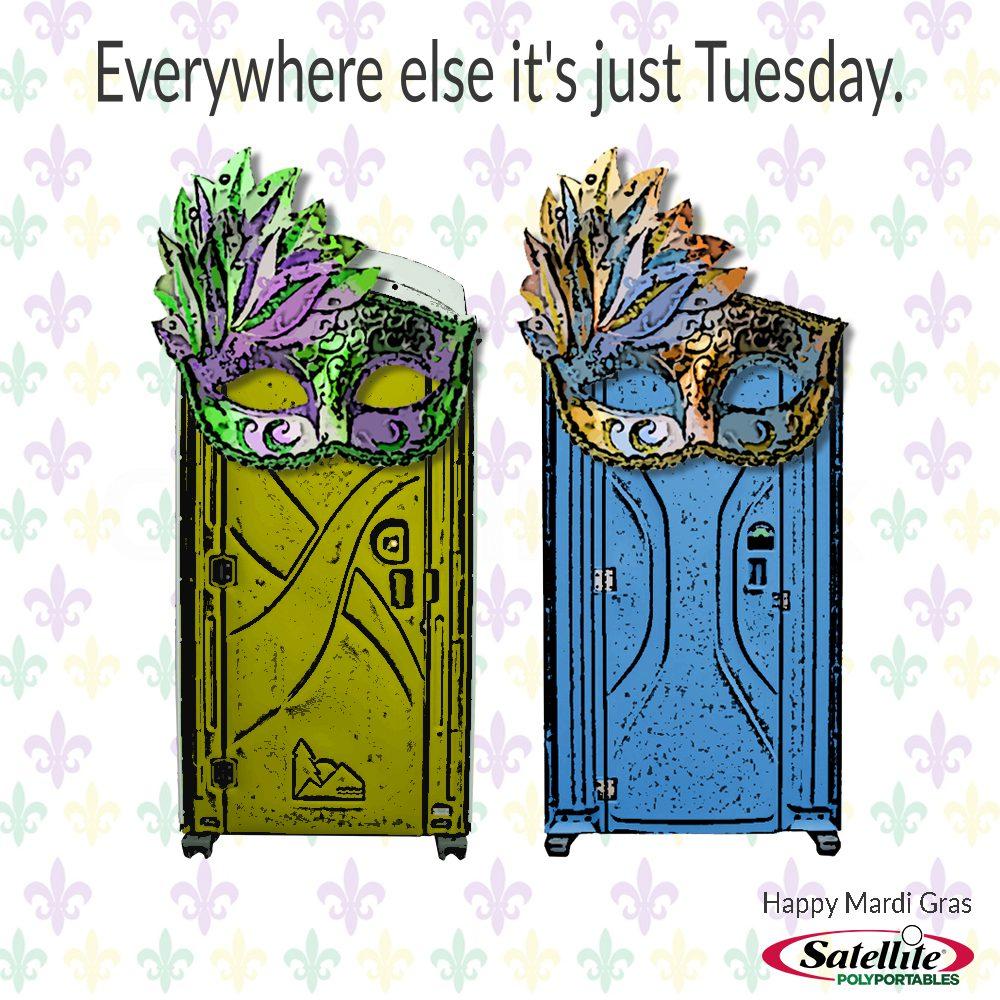 Mardi Gras Portable Toilets