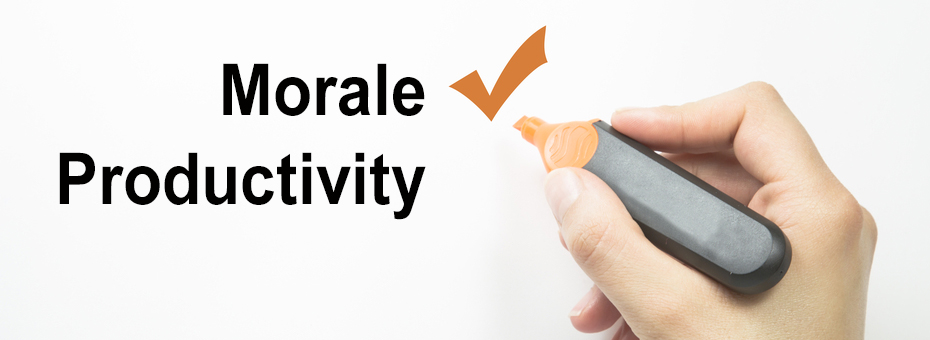 Employee Morale leads to increased productivity