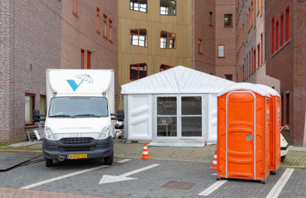triage tent NL