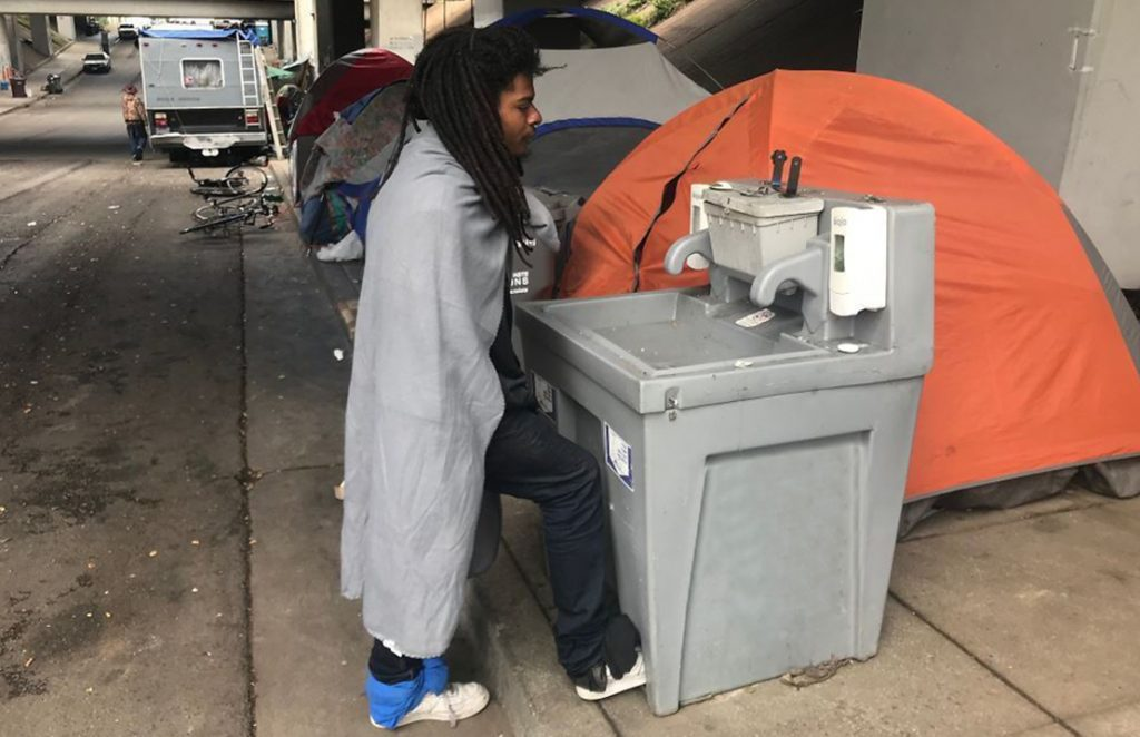 Handwash stations for the homeless in CA
